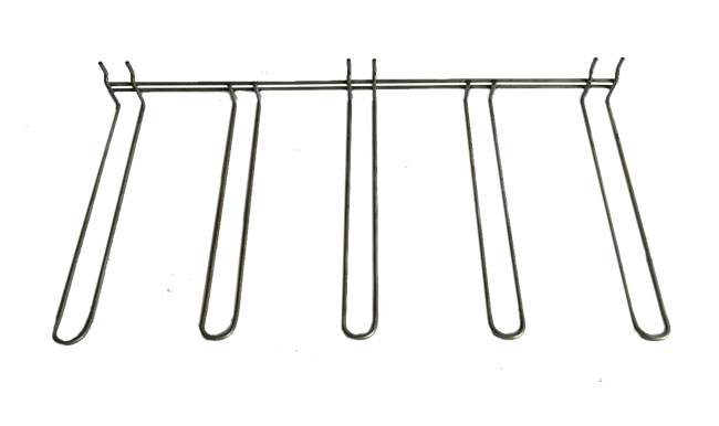 Gancio blister multiplo in filo metallico