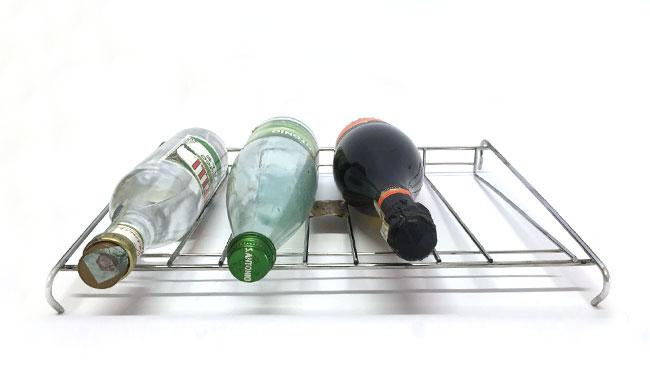 Griglie porta bottiglia in filo metallico