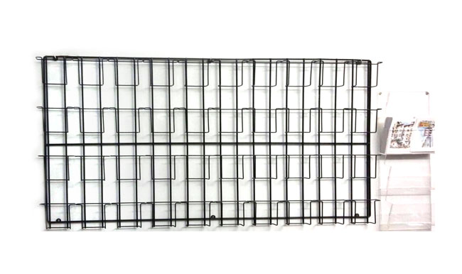 Espositore porta cartoline in filo metallico